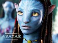 Neytiri visage - Formats : standard, iphone, nexus one, HD, autre